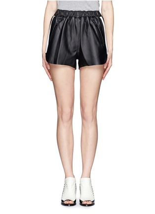 Main View - Click To Enlarge - Acne Studios - Side-trim leather shorts
