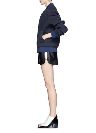 Figure View - Click To Enlarge - Acne Studios - Side-trim leather shorts
