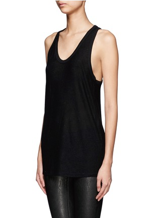 Front View - Click To Enlarge - T By Alexander Wang - Racer back tank top