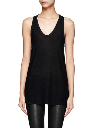 Main View - Click To Enlarge - T By Alexander Wang - Racer back tank top