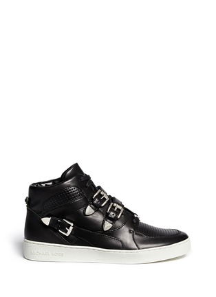 Main View - Click To Enlarge - Michael Kors - 'Robin' high top leather sneakers