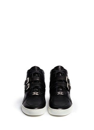 Figure View - Click To Enlarge - Michael Kors - 'Robin' high top leather sneakers