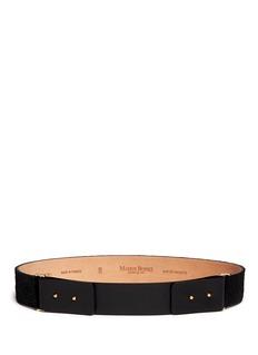 MAISON BOINETDouble closure calf hair leather belt
