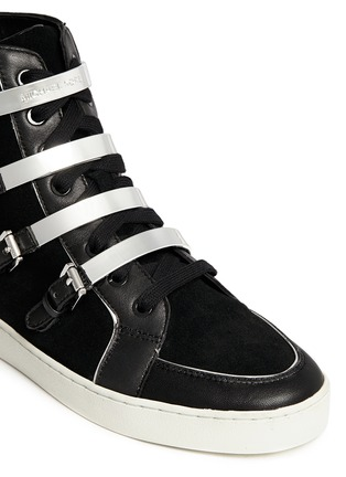 Detail View - Click To Enlarge - Michael Kors - 'Kimberly' suede and leather sneakers