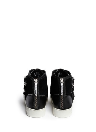 Back View - Click To Enlarge - Michael Kors - 'Kimberly' suede and leather sneakers