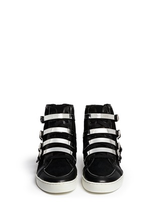 Figure View - Click To Enlarge - Michael Kors - 'Kimberly' suede and leather sneakers