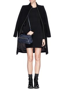 GIVENCHY'PANDORA' Mini crinkle leather bag