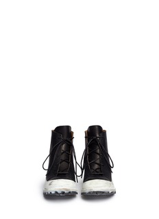 SONG FOR THE MUTE Lace up leather sneaker boots