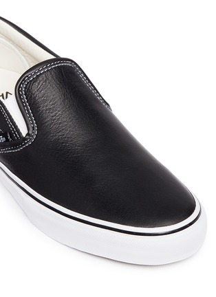 Detail View - Click To Enlarge - Vans - 'Classic LX' leather skate slip-ons