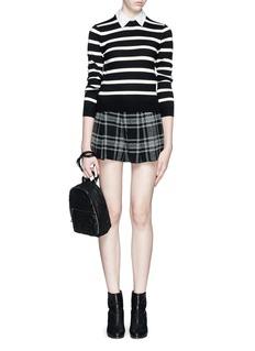 ALICE + OLIVIAPlaid pleat high waist shorts