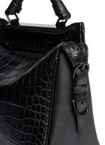 'Ryder' small alligator leather satchel
