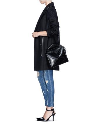 - 3.1 PHILLIP LIM - 'Ryder' small alligator leather satchel