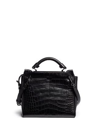 背面 - 点击放大 - 3.1 PHILLIP LIM - 'Ryder' small alligator leather satchel