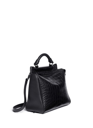 正面 -点击放大 - 3.1 PHILLIP LIM - 'Ryder' small alligator leather satchel