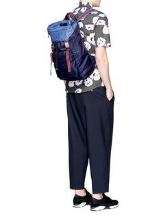 MarniColourblocked tech fabric backpack