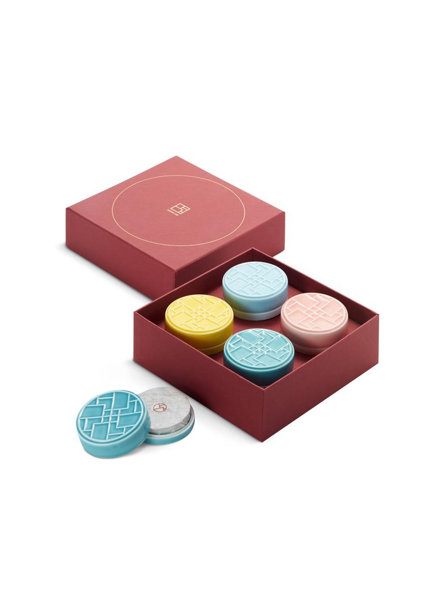 Tea cake four-piece gift box by SHANG XIA