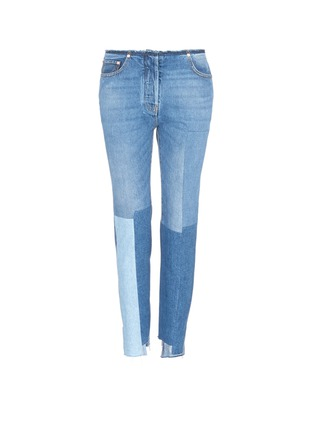 Main View - Click To Enlarge - Valentino - Washed patchwork jeans