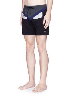 Fendi'Bugs' panel swim shorts