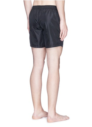 Back View - Click To Enlarge - Fendi - Logo bubble patch swim shorts