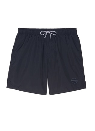 Main View - Click To Enlarge - Fendi - Logo bubble patch swim shorts