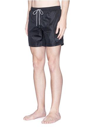 Figure View - Click To Enlarge - Fendi - Logo bubble patch swim shorts