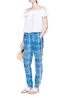 Lemlem'Makena' radial print woven cotton pants