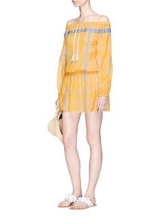 Lemlem'Makena' radial print off-shoulder mini dress