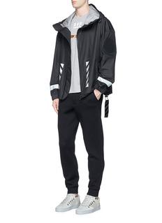 Moncler Capsulex Off-White 'Seine' reflective print ripstop coat