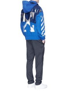 Moncler Capsulex Off-White 'Treuil' storm flap reflective print coat