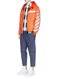 Moncler Capsulex Off-White 'Gangui' reflective print windbreaker jacket