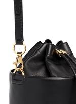 Stud leather bucket bag