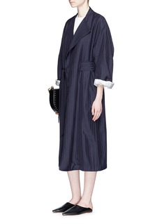 Acne Studios 'Oceane' stripe twill belted trench coat