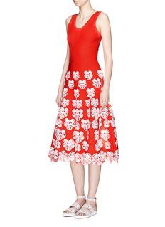 Alaïa 'Bouquet d'Orchidees' intarsia flared knit dress