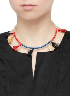Isabel Marant 'The Wailers' tassel stripe collar necklace