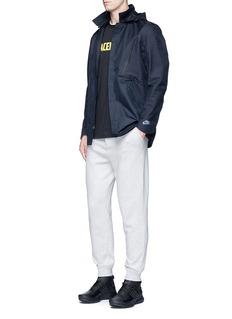 NikeGeometric print removable hood jacket