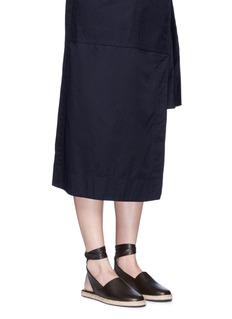 Moncler'Violette' ankle tie leather espadrille sandals