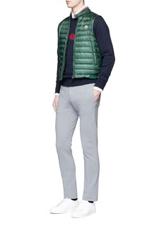 Moncler Smiley logo patch cotton sweatshirt