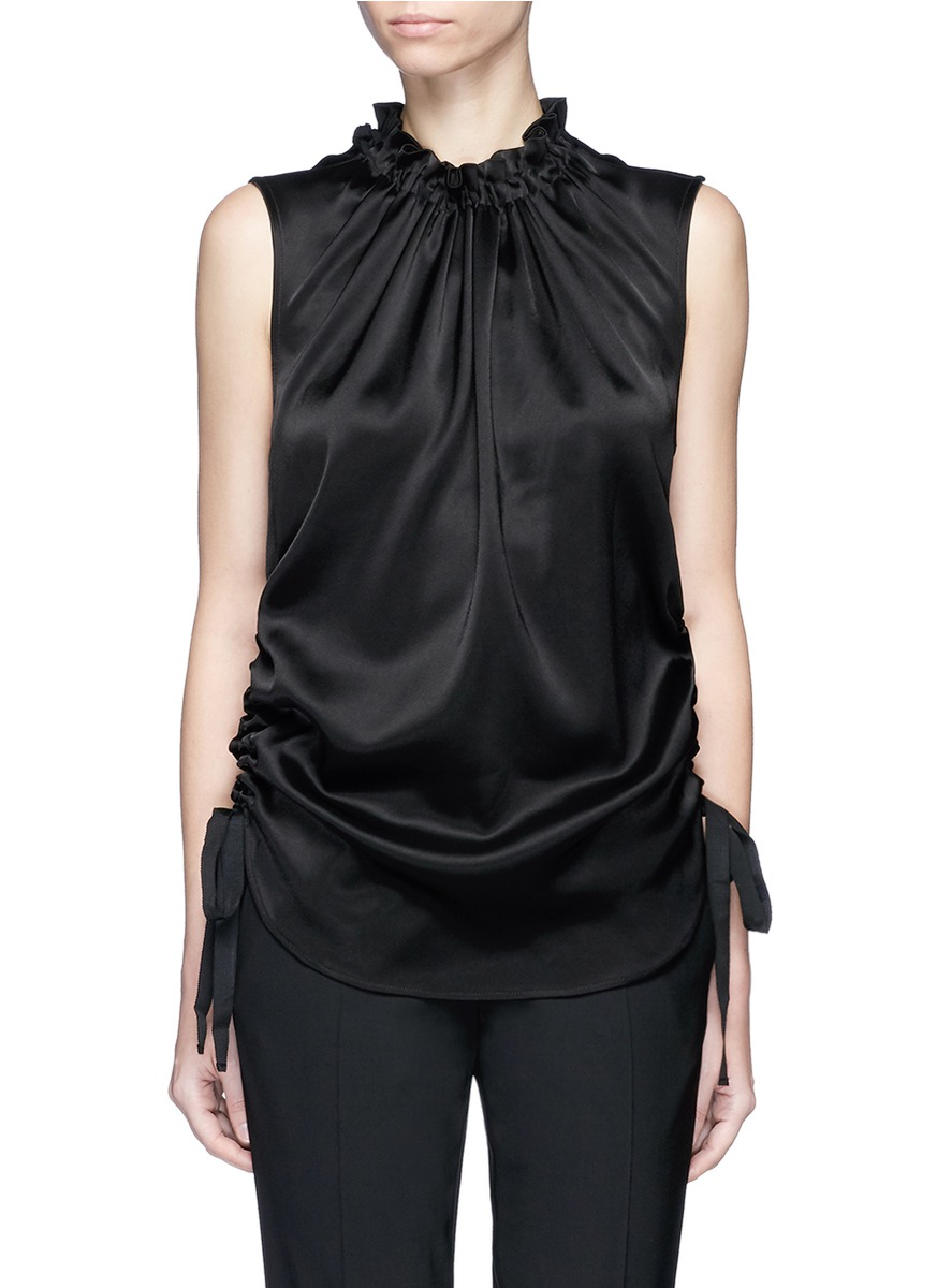 Beyond ruched satin top by Georgia Alice