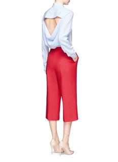 ValentinoDrape open back stripe silk shirt
