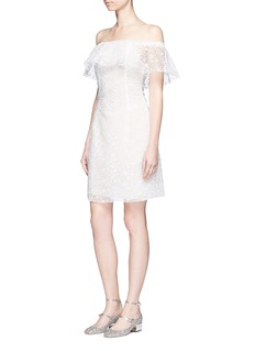 Giamba Cherry blossom embroidered organdy dress