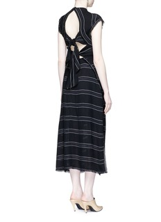 Proenza SchoulerTie open back pinstripe crepe dress