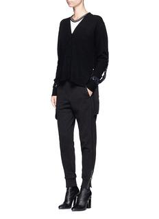3.1 Phillip LimSequined silk trim wool blend cardigan