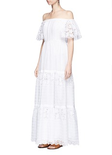 Valentino Broderie anglaise off-shoulder maxi dress