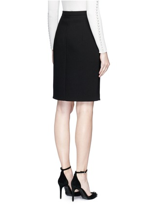 Back View - Click To Enlarge - Alexander Wang  - Lace-up split pencil skirt