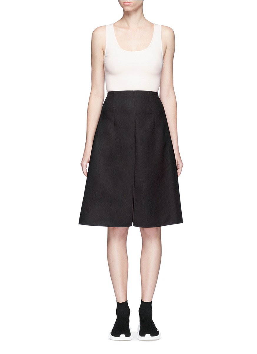 Sam georgette and twill sleeveless dress by Acne Studios