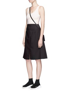 Acne Studios 'Sam' georgette and twill sleeveless dress
