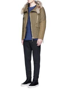 1.61'B.E.' drop crotch cotton-linen pants