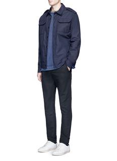1.61'F.B.' slim fit cotton-linen pants