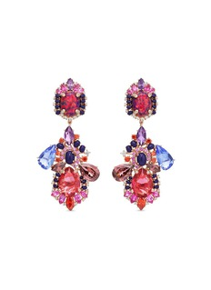Anabela Chan 'Opals Poseidon' detachable gemstone 18k rose gold drop earrings