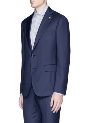 Front View - Click To Enlarge - Lardini - 'Leisure' regular fit wool suit